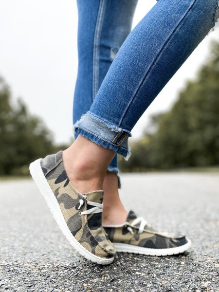 RESTOCK! Hey Girl Camo Linen Shoes