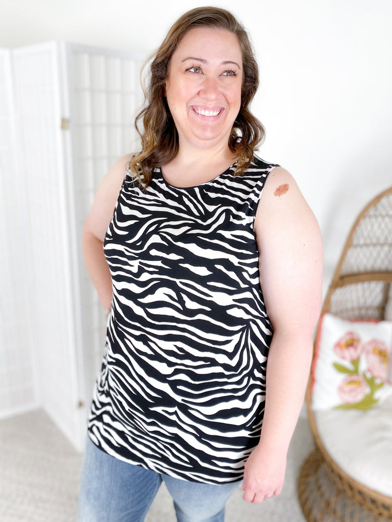 Door Buster! Sleeveless Pattern Top with Side Slit (Multiple Options)