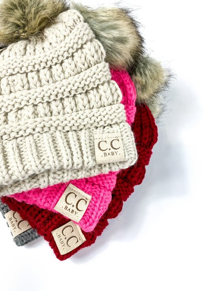 CC Ribbed Knit Infant Beanie