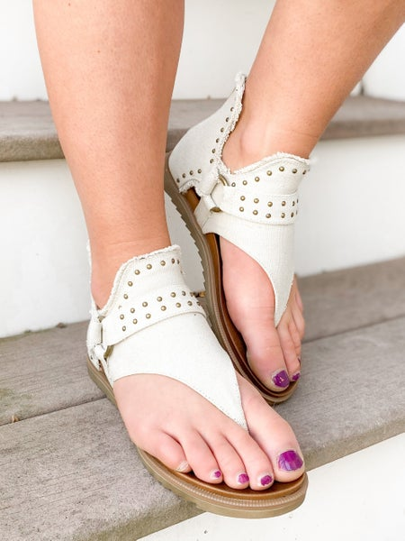 Distressed Studded Sandals (Multiple Colors)