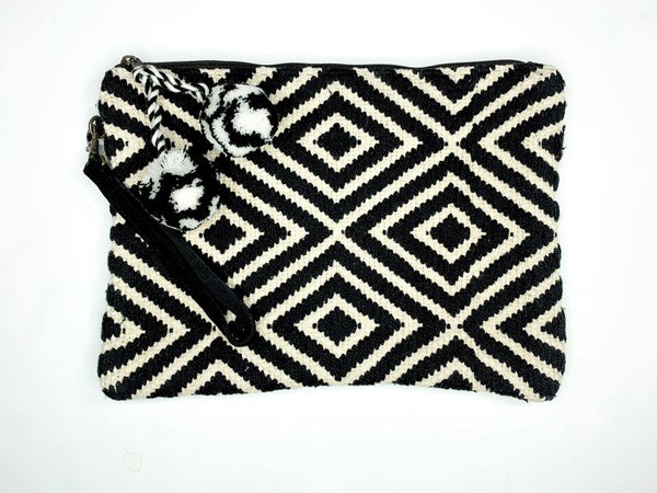 Diamond Patterned Clutch