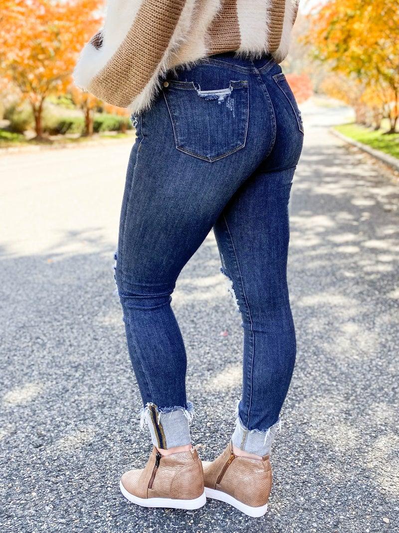 PLUS/REG Judy Blue Off the Cuff Jeans