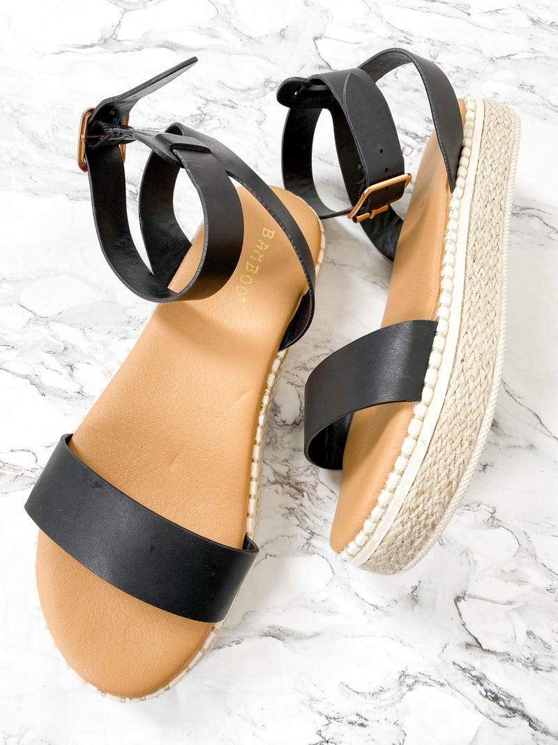 Espadrille Wedge Strap Sandal (Multiple Colors)