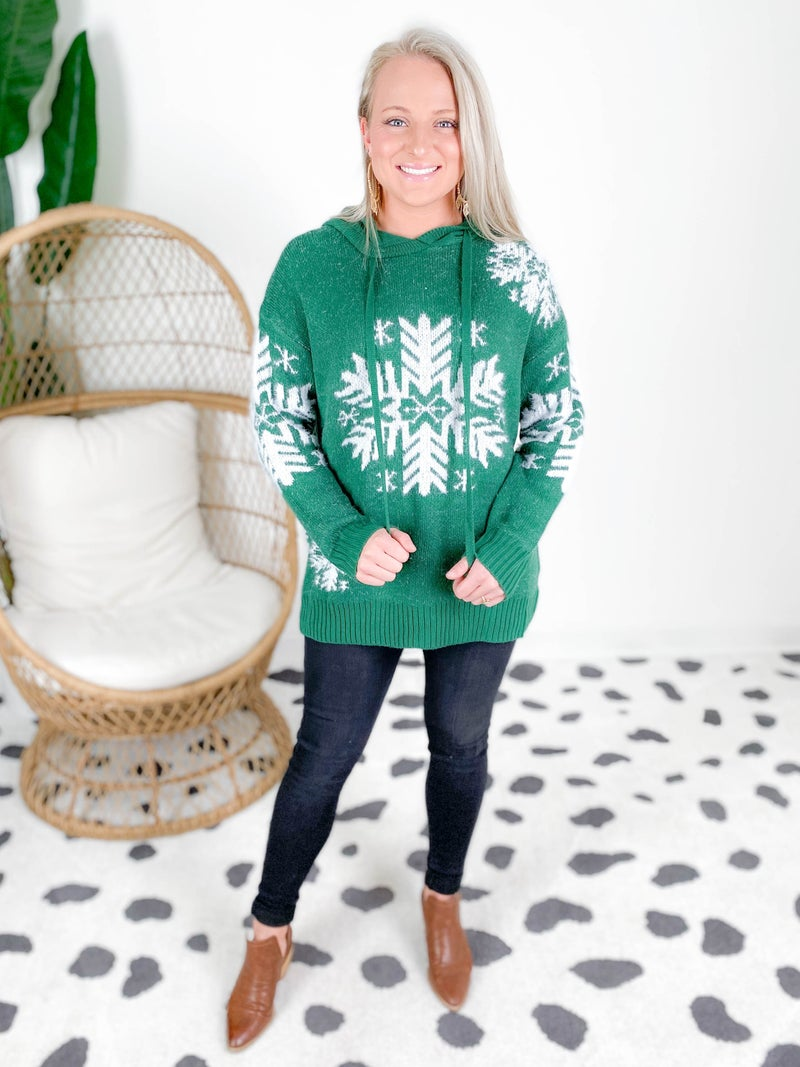 Fuzzy Snowflake Sweater (Multiple Colors)