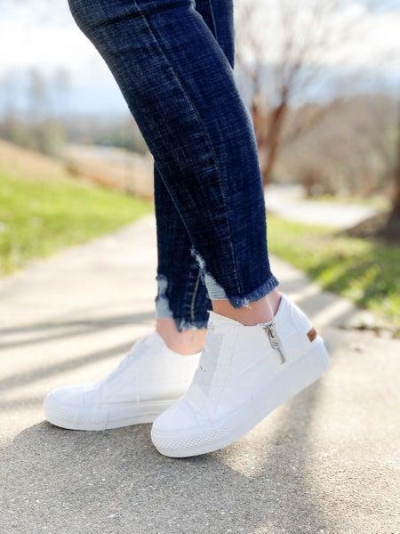 Blowfish White Platform Sneaker