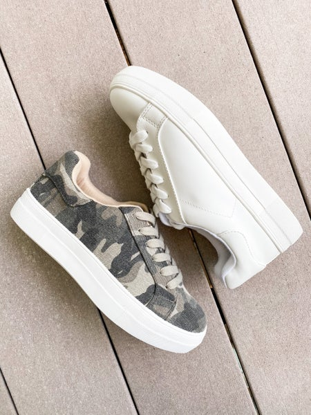 Soda Platform Lace Up Sneakers (Multiple Colors)