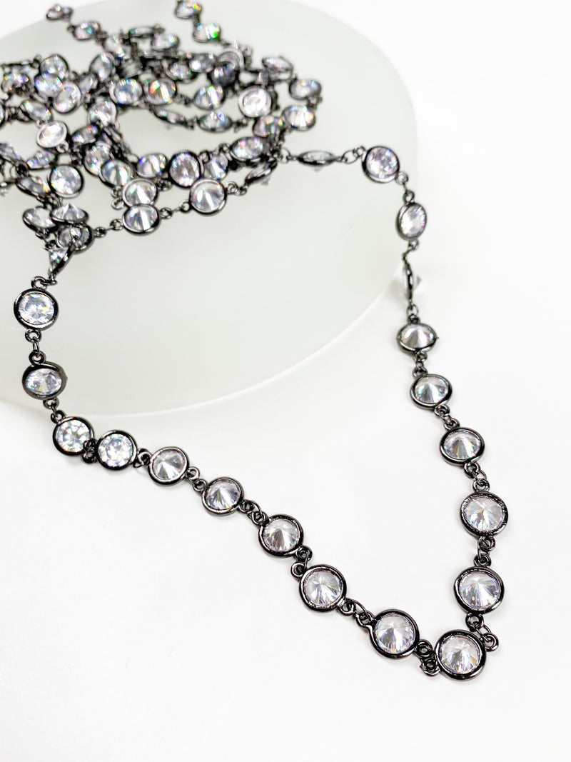 "RESTOCK!!! Karli Buxton 60"" Rhodium CZ Layer Necklace (Multiple Colors)"