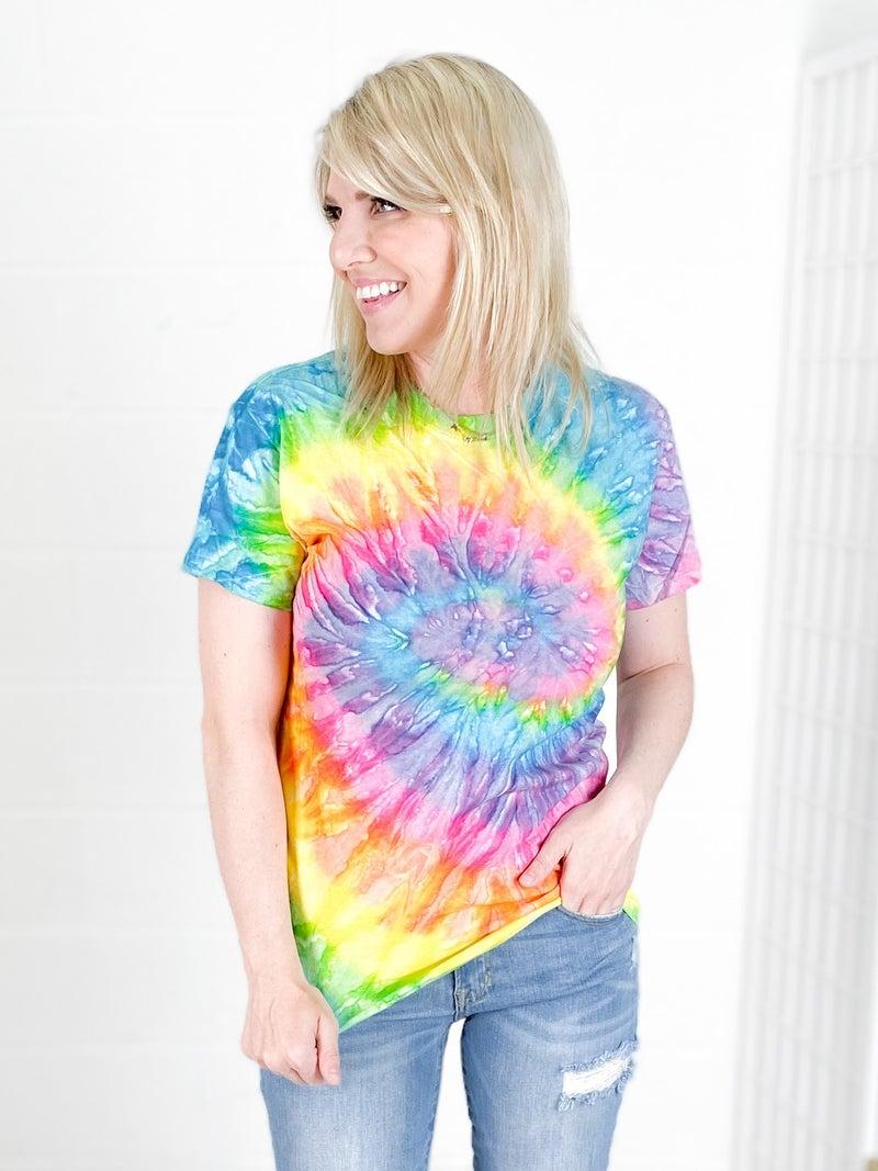 DOORBUSTER!!! Rainbow Tie Dye T Shirt