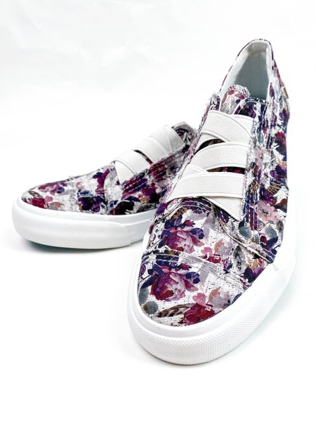 Blowfish Violet Floral Sneakers