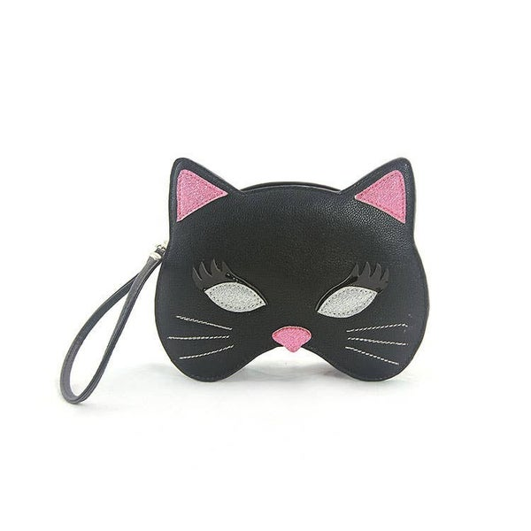Black Kitty Mask Wristlet