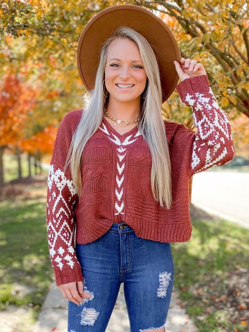 POL Boho Open Weave Sweater (Multiple Colors)