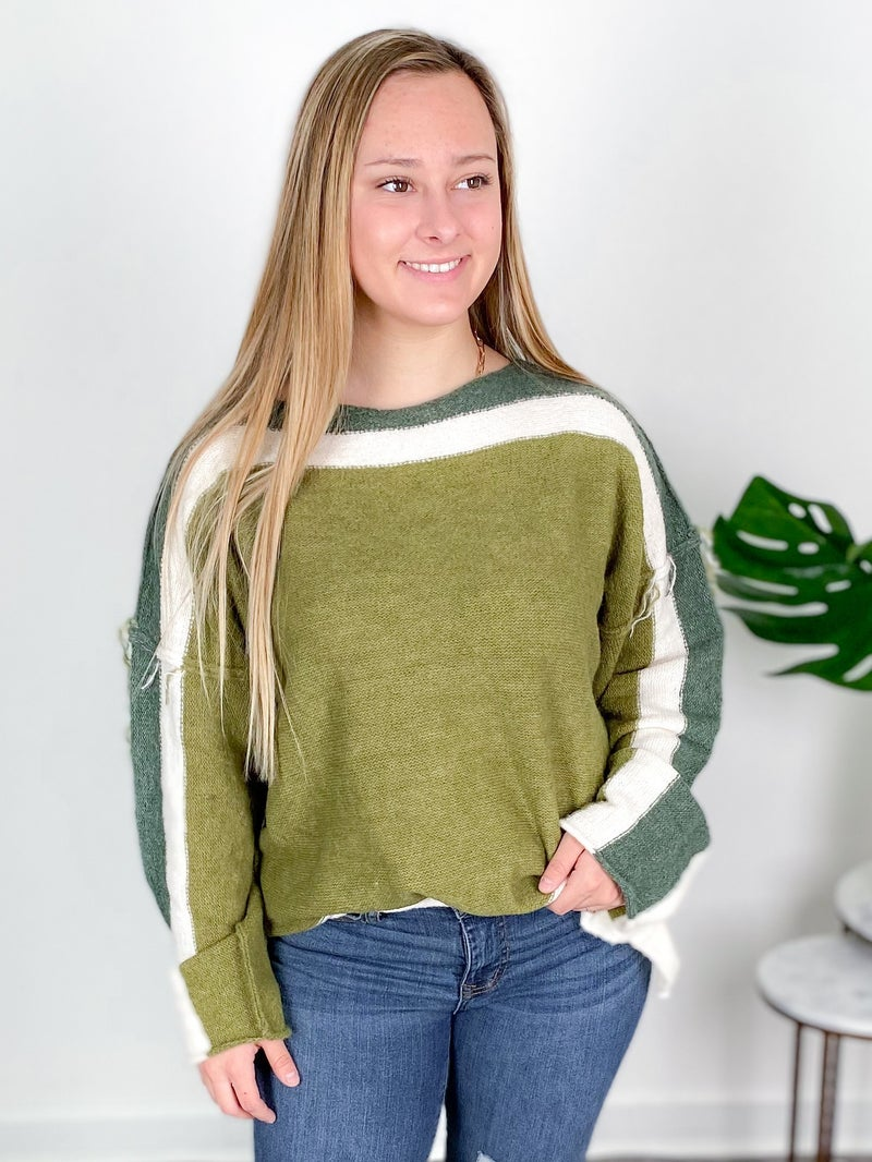 Inside Out Color Block Sweater ( Multiple Colors)