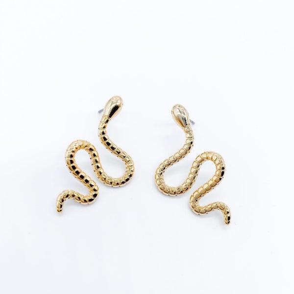 Gold Snake Studs