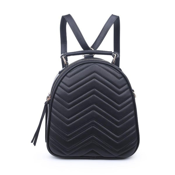 Constance V Stitch Double Zip Mini Backpack (Multiple Colors)