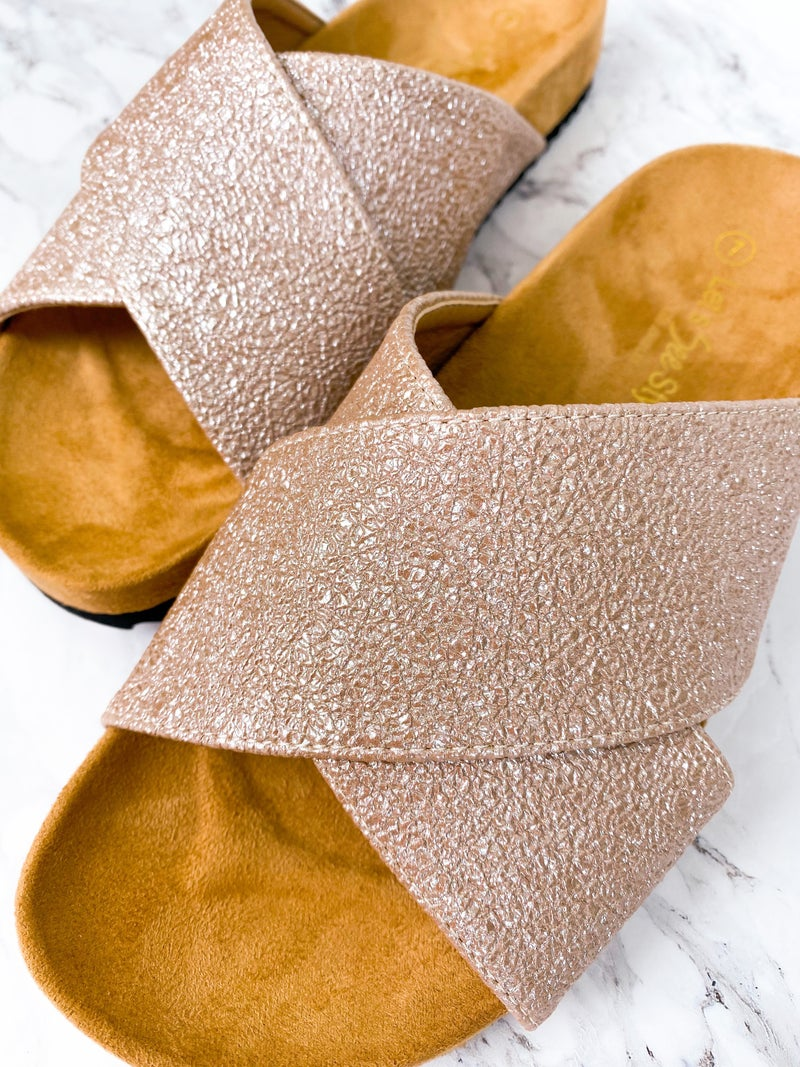 X Strap Sandal Slides (Multiple Colors)