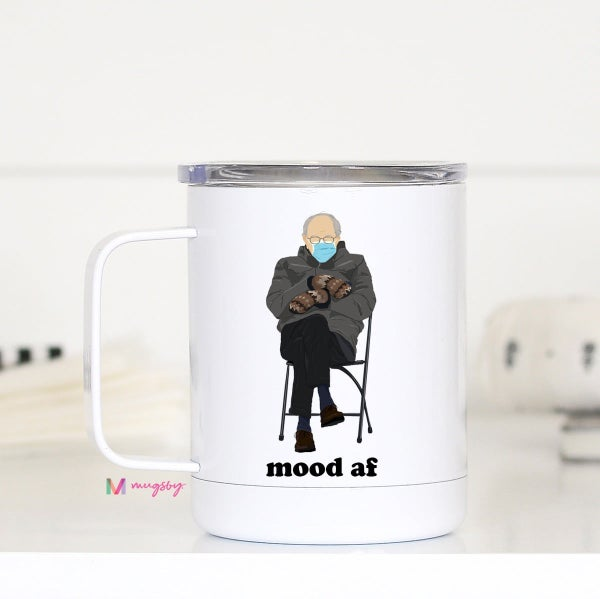 Bernie Mood AF Travel Mug