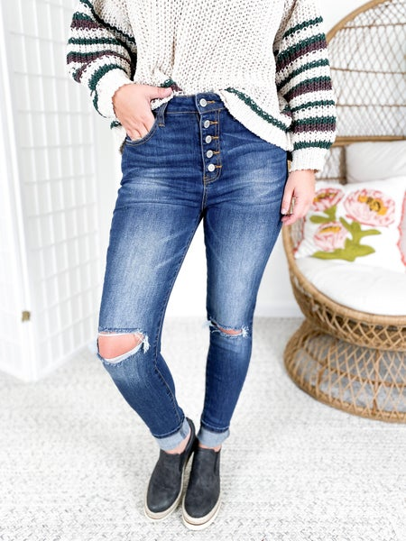 C'est Toi TRICOT Basic Babe High Rise Skinny Jeans