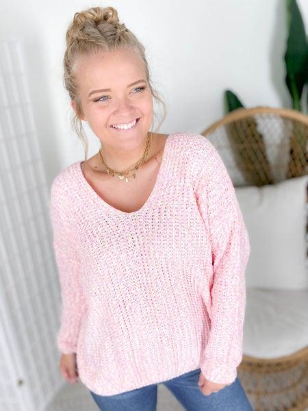 PLUS/REG Pink Sorbet Soft Knit Sweater