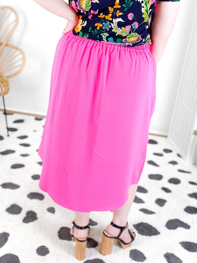 PLUS Pank Ruffle Midi Skirt