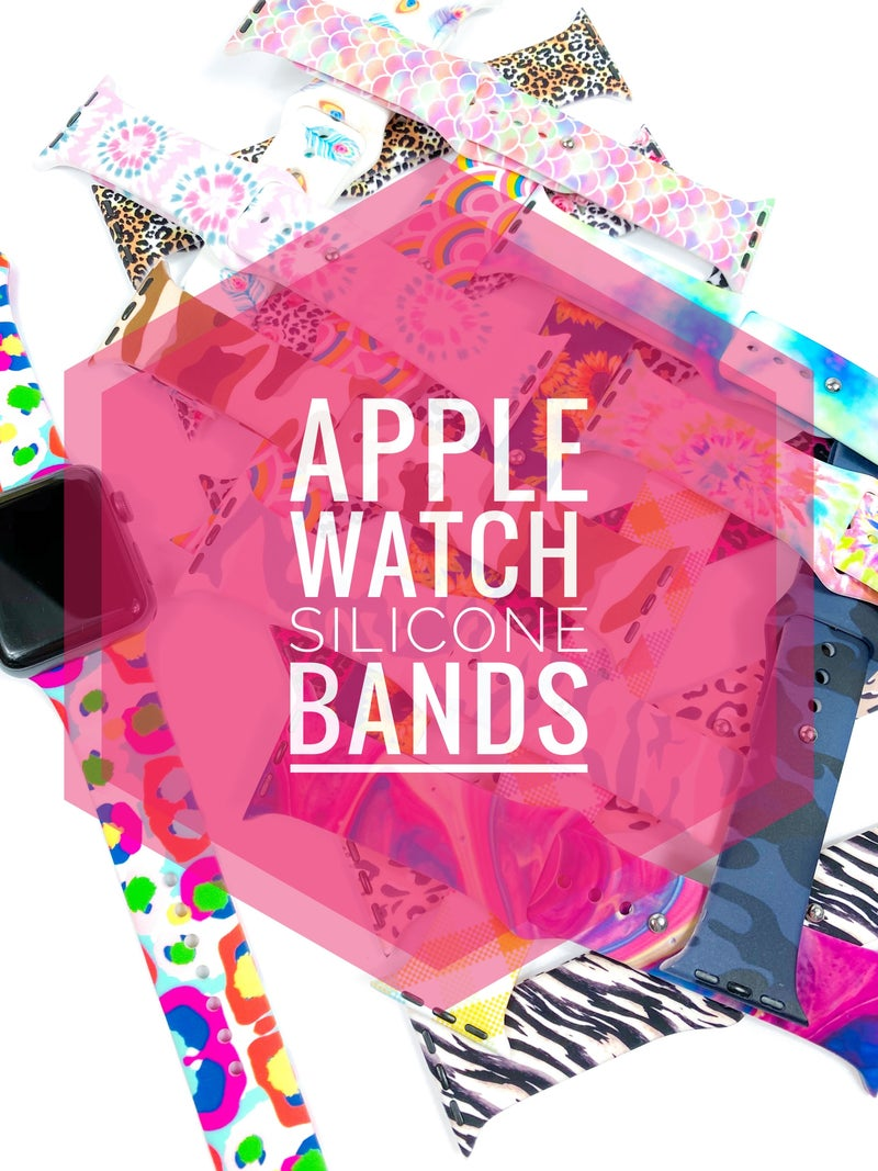 Apple Watch Silicone Bands (Multiple Colors)