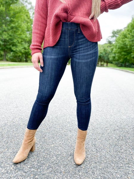 PLUS/REG Judy Blue The Joey Elastic Waist Pull On Jeans