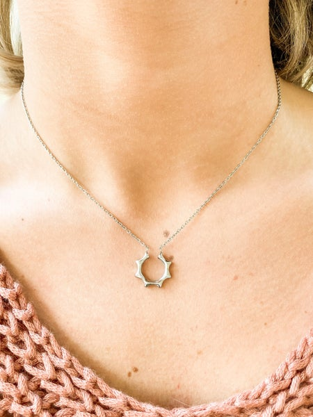 Half Sun Clavicle Necklace (Multiple Colors)