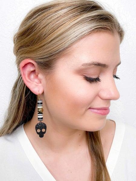 Karli Buxton Crazy Bone Drop Earrings (Multiple Colors)