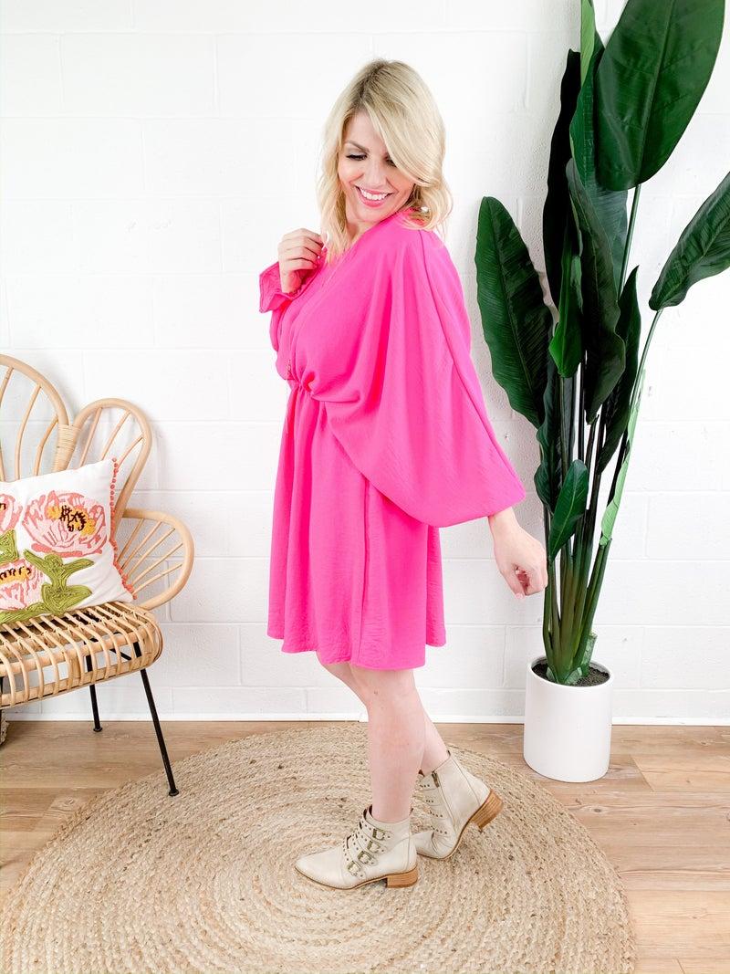 Woven Midi Dress (Multiple Colors)