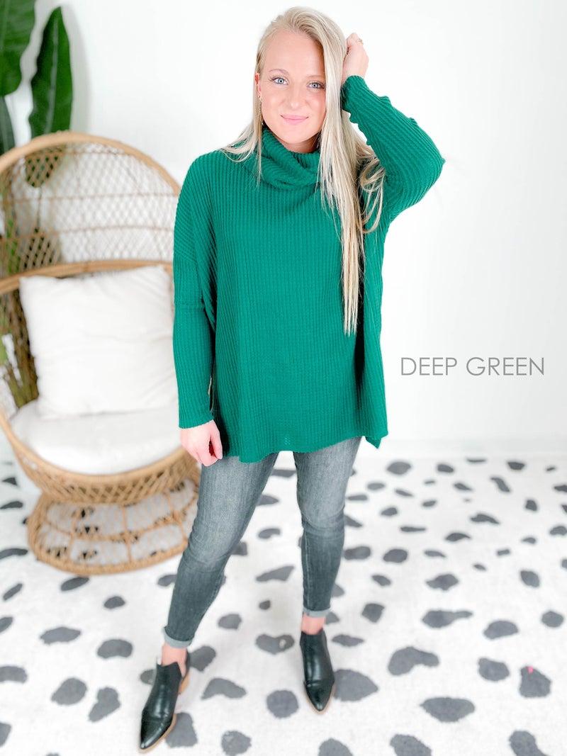 Door Buster!! PLUS/REG Waffle Knit Turtleneck Sweater (Multiple Colors)