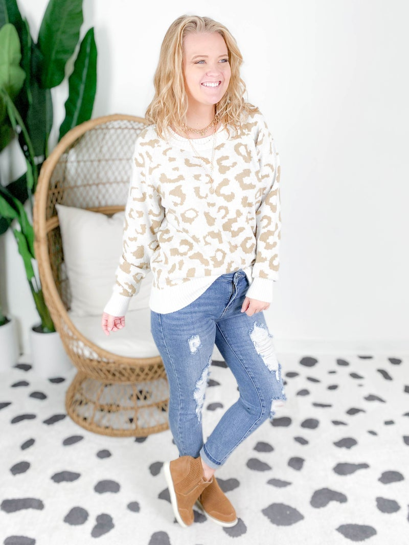 PLUS/REG Soft Leopard Sweater (Multiple Colors)