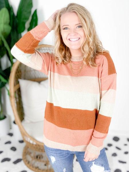 PLUS/REG Color Block Round Neck Sweater (Multiple Colors)