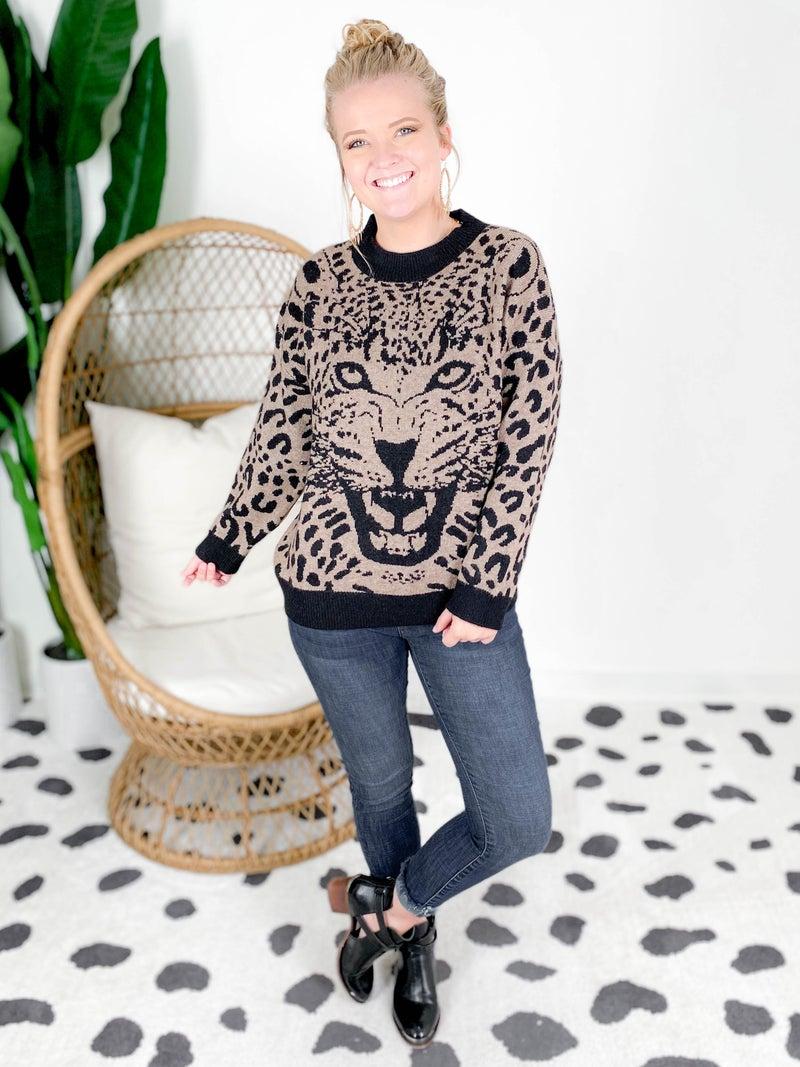 Wild Style Mocha Leopard Sweater