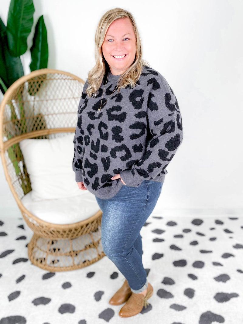 Cozy Leopard Sweater (Multiple Colors)