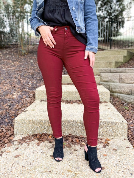 PLUS/REG Hyperstretch Colored Skinny Jeans (Multiple Colors)