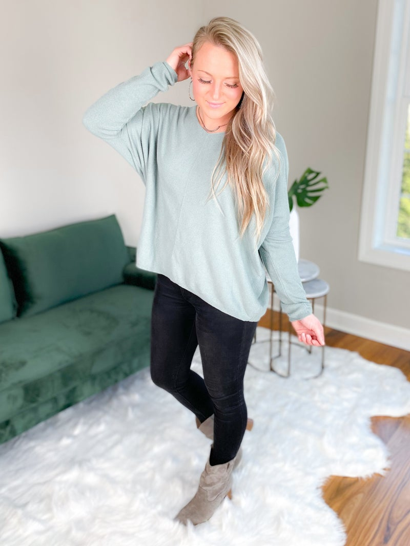 Light Weight V Neck Sweater Top (Multiple Colors)