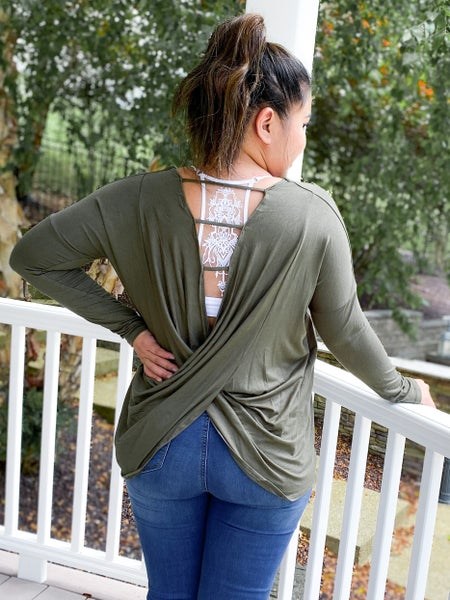 RESTOCK + NEW COLORS!! Crossed Open Back Top (Multiple Colors)