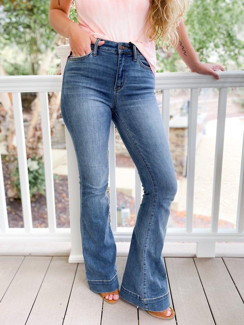 PLUS/REG Judy Blue Genie in a Bottle Trouser Flare Jeans
