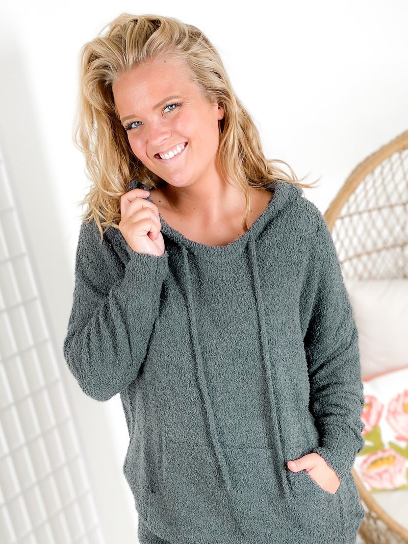 Fuzzy Soft Hoodie (Multiple Colors)