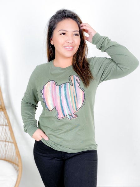 Rainbow Turkey Long Sleeve