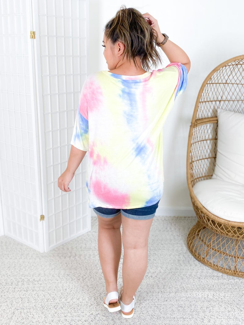 Tie Dye 'Cool Mom' Graphic Top