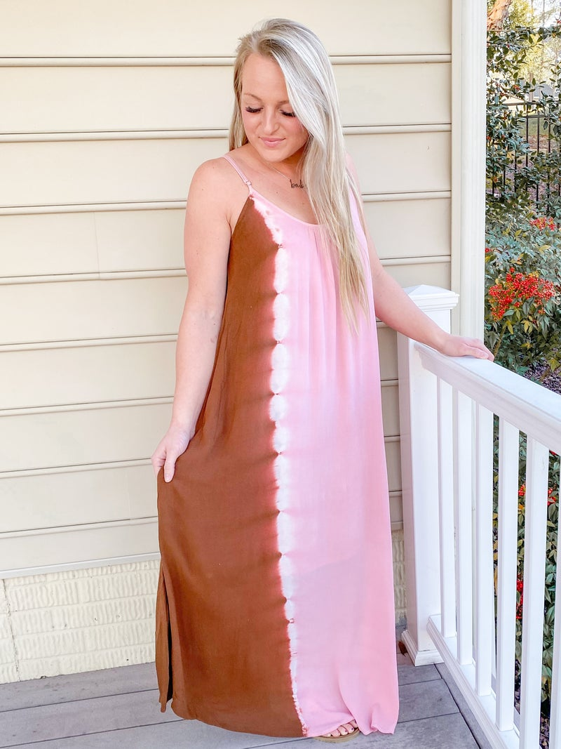 Tie Dye A Line Maxi Dress
