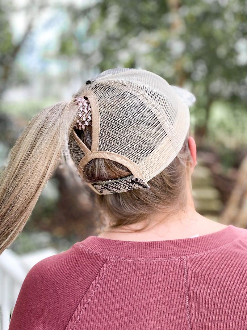 Keep it Gypsy Upcycled LV trucker hat