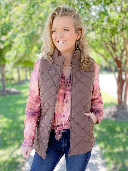 Door Buster! PLUS/REG Diamond Padded Vest (Multiple Colors)