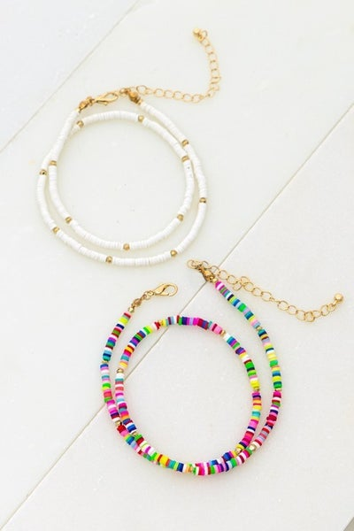 Beaded Chain Necklace (Multiple Colors)