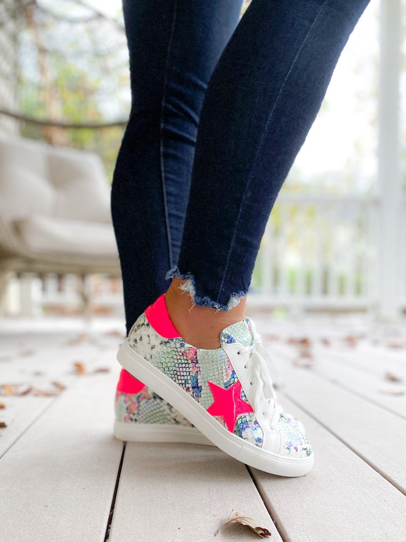 Lace Up Sneakers With Star Detail (Multiple Options)