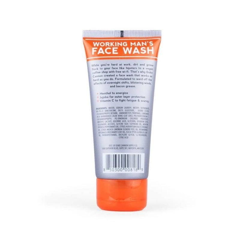 Restock!! Duke Cannon Working Man's Face Wash