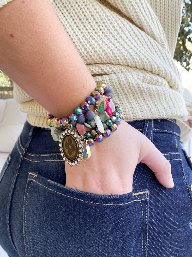 Keep it Gypsy Upcycled Authentic LV Bracelet (Multiple Options)
