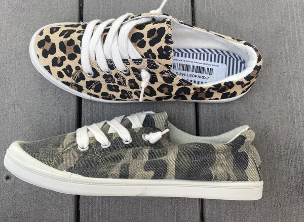 Comfort Lace Up Canvas Sneakers (Multiple Colors)