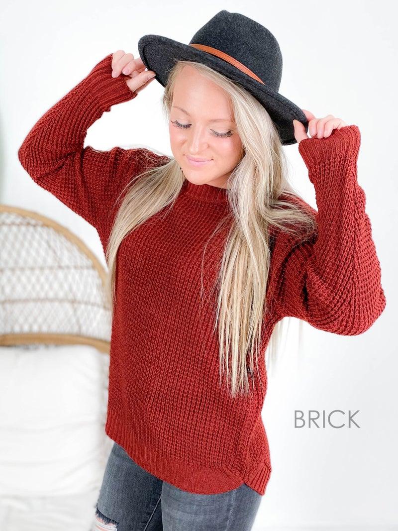 PLUS/REG Zenana Waffle Knit Sweater with Hi Low Hem (Multiple Colors)