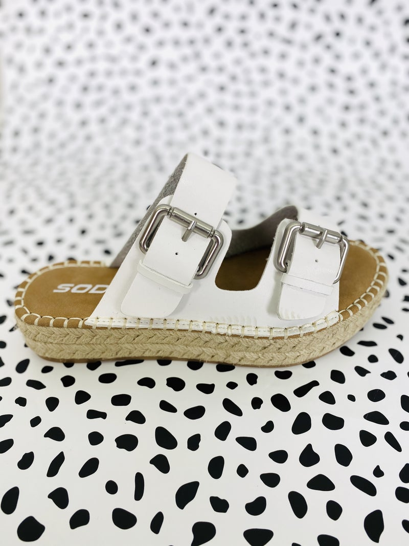 Espadrille Buckle Platform Sandals (Multiple Colors)